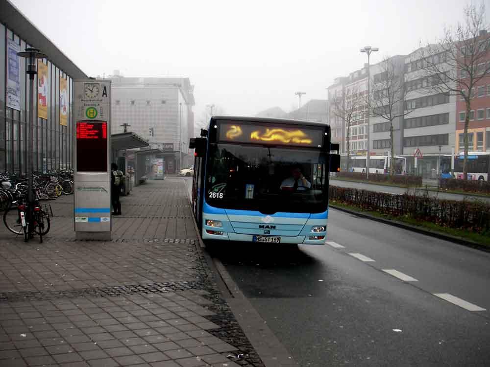 Bussteig A Hauptbahnhof Münster